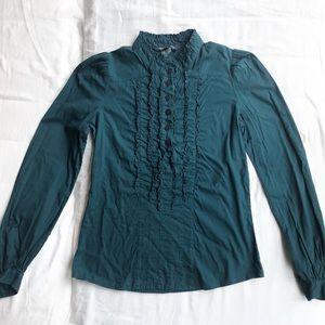 French Connection Teal/Blue Green Blouse